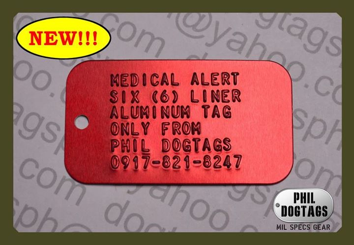 Red Medical Alert Tags